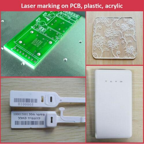 20W portable fiber laser marking machine for plastic PVC data matrix and barcode
