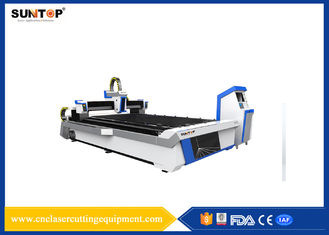 China Metal Fiber Optic Laser Cutting System 1200W 1500 * 3000mm 1064nm supplier