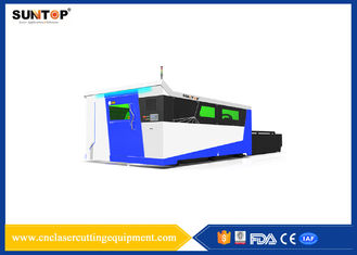 China Fiber Laser Cutter Double Exchange Working Tables Full Seal Structure supplier