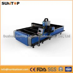 China Stainless steel and mild steel CNC fiber laser cutting machine with laser power 1000W supplier
