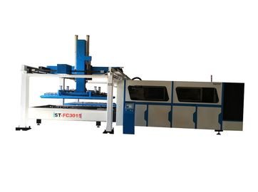 China Full automatic CNC metal fiber laser cutting machine with loading and unloading system supplier