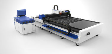 China Steel fiber laser cutting machine with power 1200W, double drive supplier