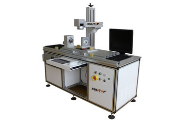 China Customized  Fiber Laser Marking Machine for Cylindrical Surface and Round Products supplier