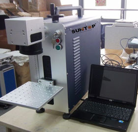 China Small size portable laser marking machine  , desktop marking and engraving machine for metal supplier