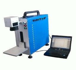China Portable Fiber Laser Marking Machine for Auto Parts / Hardware Marking Power 30W supplier