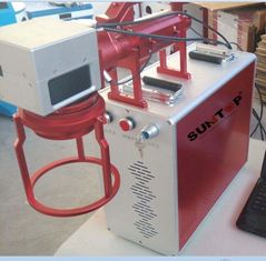 China Hand Held Portable Fiber Laser Marking Machine For Meta Products Processing 20w supplier