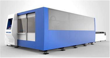 China 20mm Carbon Steel CNC Fiber Laser Cutting machine with 2000W , exchanger table factory