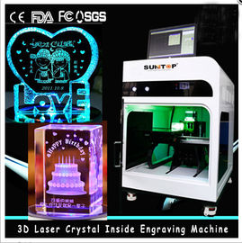 China 3D Crystal Laser Inner Engraving Machine 2000HZ speed 120,000 dots / Minute distributor